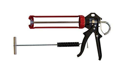 Preisvergleich Produktbild Sanremo Set 1 Auspresspistole + Zylinderbürste für Verbundmörtel Injektionsmörtel Montagemörtel