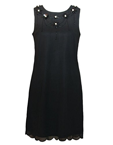 Yumi Pearl Detail Shift vestito nero S, Gr. 34 – 36 Nero
