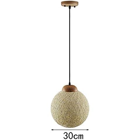 modernas lámparas de araña restaurante bar retro minimalista de Europa sala de arte contador de cana de estar (dos estilos opcional) ( Tamaño : 30cm )