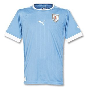 PUMA Herren Trikot National Teams Replica Uruguay, white-silver lake blue-uruguay, XL, 741072 22