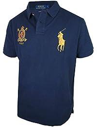 eda9efb47957 Ralph Lauren - Polo - Col Polo - Manches Courtes - Homme Bleu Bleu Marine