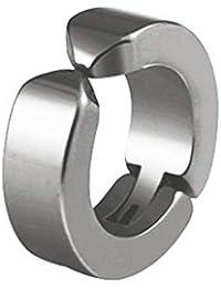 Lorsoul Unisex de Acero Inoxidable Clip del oído de Ronda no Piercing Pendiente Espárragos de Acero de Titanio de la firmeza contra la alergia del Clip del oído
