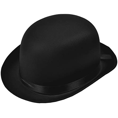 Andere Satin Bowlerhut Größe 58 Melone Edler Bowler Hut Kopfbedeckung