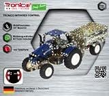 RC Traktor, Metallbaukasten, NEW HOLLAND T5-115,Traktor mit Anhänger, Infarotgesteuert, 454 Teile, Tronico, inklusive Werkzeug