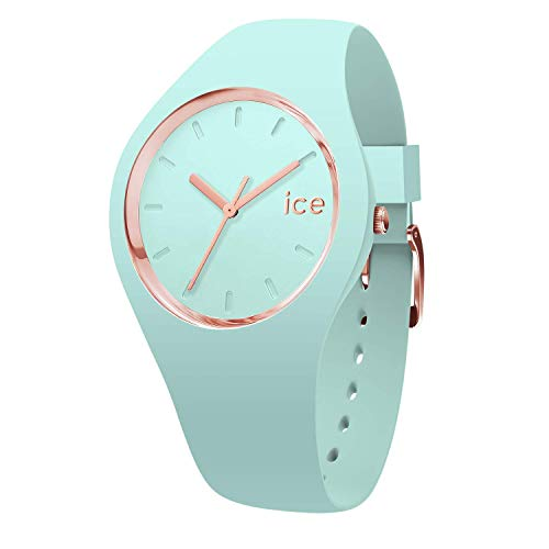 Ice-Watch - Ice Glam Pastel Aqua - Grüne Damenuhr mit Silikonarmband - 001064 (Small)
