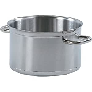 Bourgeat Tradition Plus Boiling Pan. Robust heavy duty design. Reinforced non-drip edge with ultra thick bumper.Use pans with any cooking surface including induction. Stay cool water tight handle. Lids sold separately. From Winware