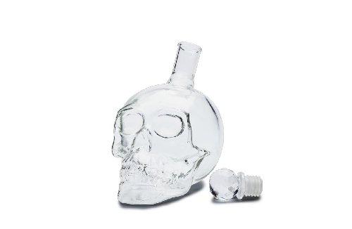 Kristall Schädel Skull Shot Totenkopf Wein Vodka Glas Flasche 330ml