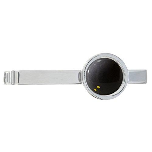 SQUASH Ball Design rhodiniert Krawatte Clip in Geschenkbox