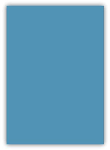 25 Blatt farbiges Premium Briefpapier Caribic Format DIN A5 ( 148 x 297 mm ) Farbe Briefbogen Blau Azur, Karibik Papier