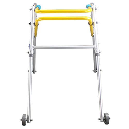 inium Folding Walker Mit Rädern Behinderte Walker Untere Gliedmaßen Rehabilitation Walker Trainingsstand Kinder Geschenk ()