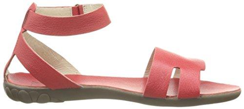 FLY London Fuxa 623, Sandales Femme Rouge (Mousse Scarlet)