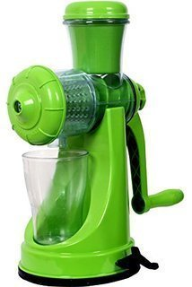 Kuber Industries Juicer, Fruit & Vegetable Juicer, Manual Hand Juicer, Fruit Juicer Handel Vacuum Base (green)-jui14