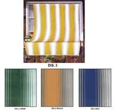 Tenda da sole tessuto resistente per balcone con anelli lavabile frange pizzo - giallo - 280x295 cm