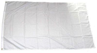 Fahnen Flaggen UNI WEISS ZUM BEMALEN ODER BESPRÜHEN 150 x 90 cm
