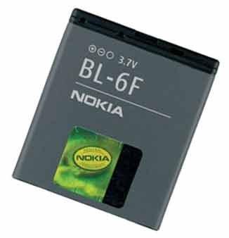 Nokia BL-6F Batterie (N95 8 Giga) 1200mAh li-Ion