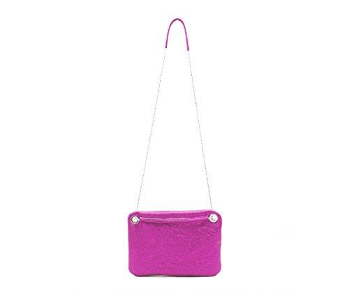 Anke Runge Berlin , Borsa Messenger  rosa Metallic Pink L Metallic Pink