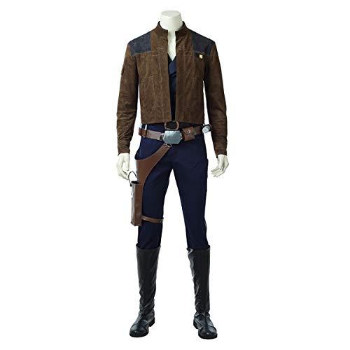 QWEASZER Herren Star Wars Han Solo 1: 1 Kostüm Deluxe Edition Superheld Cosplay Kleidung Kostüm Film Kleidung Requisiten Anpassbare Größe,Han Solo-L (Deluxe Han Solo Kostüm)