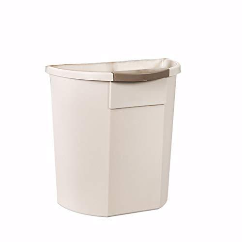 Zlw-shop Secchi per la spazzatura Moda Cestino da Cucina a Parete Senza Contenitore Porta rifiuti (Color : Beige)