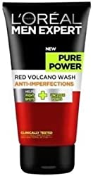 Loreal Men Expert Pure Power Red Volcano Wash Anti Perfections 150 ml with Ayur product in combo