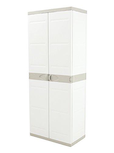 Plastiken HLKRQ Titanium Armarios, Beige, 70x44x176 cm