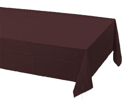 Creative Converting Touch der Farbe Kunststoff Tisch, 54von 274cm, Chocolate Brown