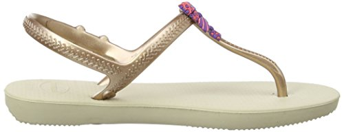 Havaianas Freedom, sandales fille Sable / Rose Or