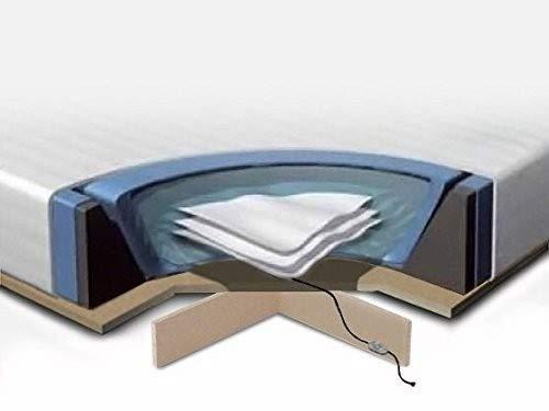 Komplettset für Wasserbett 160 x 200 cm - Wasserbett - Rahmen aus Schaumstoff - Bezug - 2 Heizungen - Podium - Conditioner (2 x 250 ml) - Wasserbett-rahmen