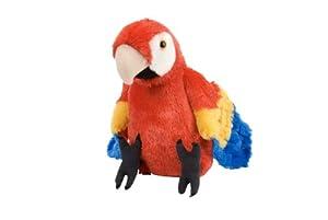 Wild Republic-12249 Peluche Guacamayo Macao Cuddlekins, Color Rojo (12249)