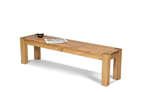 Sitzbank ,,Rio Bonito,, 160x38cm, Bank Pinie Massivholz, geölt und gewachst, Farbton Honig hell, Optional: passende Tische Bank Für Esstisch