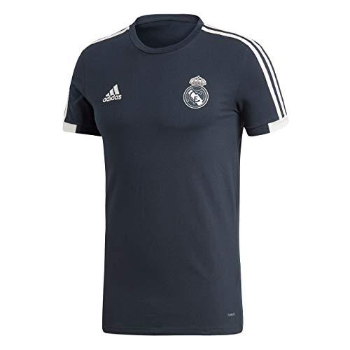 adidas Herren Real Kurzarm T-Shirt, Tech Onix/Black/Core White, M