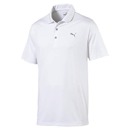 PUMA Rotation Herren Golf Polo Bright White L