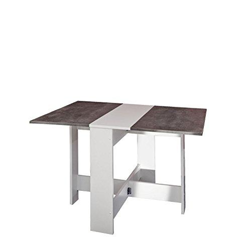 Symbiosis-2050A2198X00-Contemporain-Table-Pliante-avec-2-Abattants-BlancBton-103-x-76-x-734-cm