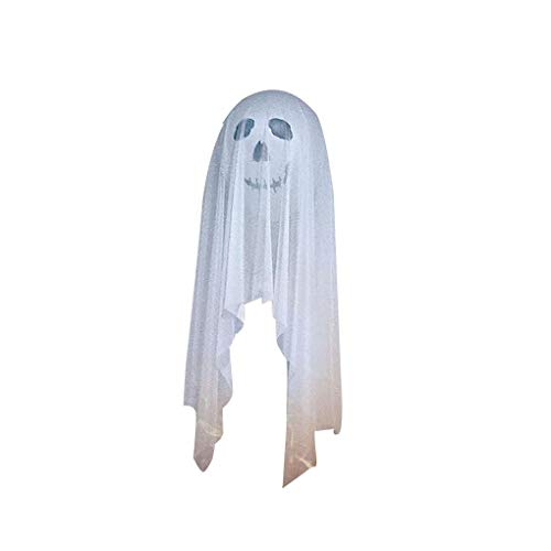 atz / 4 Satz Halloween Latexballons Schädel-Geist-Printed-Ballon mit weißen Gaze Scary Halloween-Party-Dekoration ()