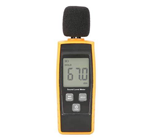 HYLH Digitales Geräuschmessgerät, Dezibelmessgerät,Tragbarer Geräuschmessgerät-Datenlogger Umgebungsgeräusch-Schallpegelmesser mit Geräuschmessgerät Reichweite 30-130dBA