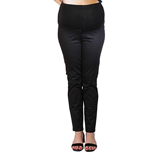 MomToBe Women's Cotton Maternity Trouser, Black