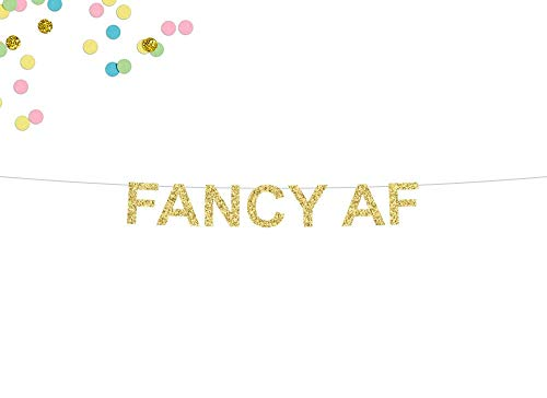Tr674gs Fancy Af Glitter Banner Birthday Party Banner I'm So Fancy Bridal Shower Banner Bachelorette Party 30Th Birthday Bride Banner Banner Decorations Supplies Celebration Party Banner -