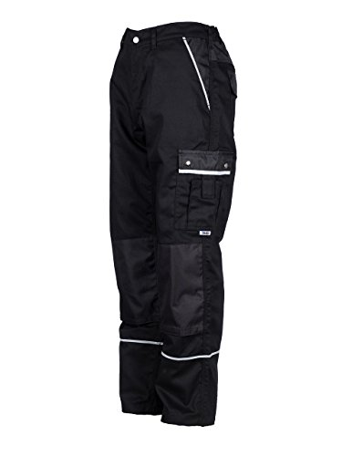 Preisvergleich Produktbild TMG® - Herren Bundhose/Cargohose mit Kniepolstertaschen - strapazierfähig - Schwarz (W34 R / EU50)