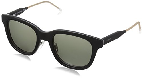 Tommy hilfiger th 1352/s 85 k0c, occhiali da sole uomo, nero (black grey havana gold/grey green), 51