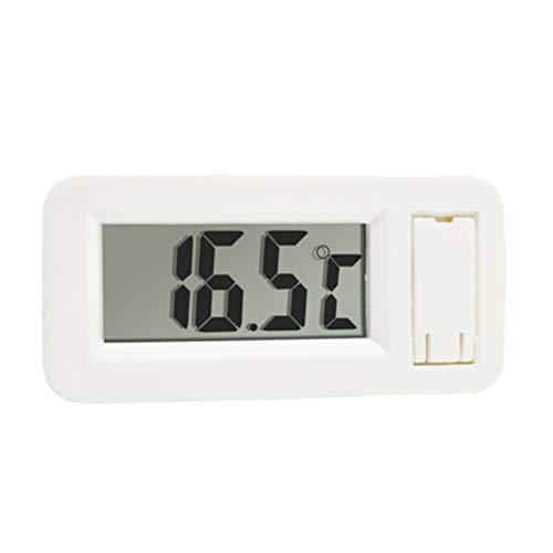 BESTONZON Kühlschrank Kühlschrankthermometer Digitale Gefriertruhe Raumthermometer Max-Min-Aufnahmefunktion mit großem LCD-Display (Weiß)