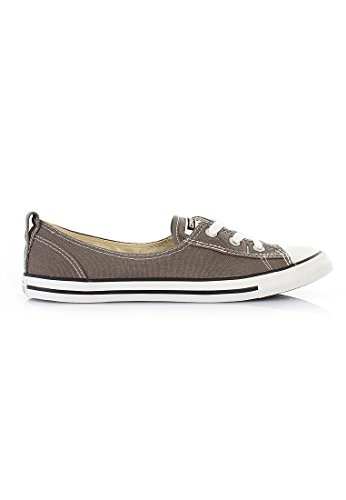 Ballerina 537093C Converse AS OX Canvas Dainty di base bianco Charcoal