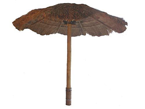 Fantasie d oriente ombrellone paglia canna bambu richiudibile cm 200