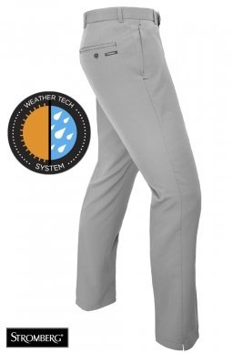 NEW 2017 Stromberg Weather Lite Windproof Tech Pants Water Resistant Mens Golf Trousers - Tapered Leg Grey 32x31