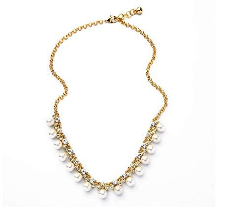 XZZZBXL Damenhalskette Online Store Einfache Art Und Weise Runden Nachahmungen Von Perlen Halskette Frauen Schmuck