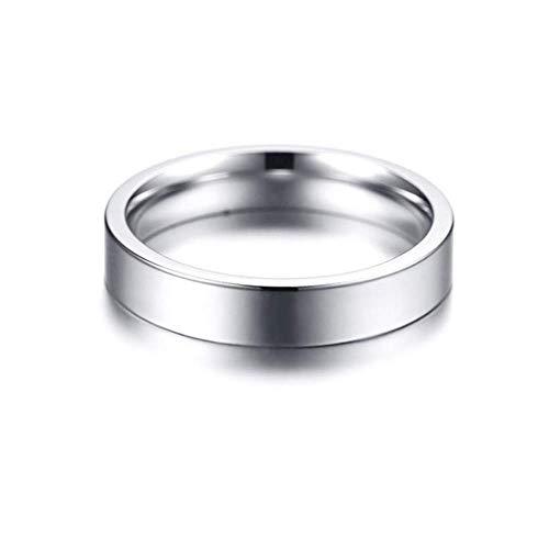 ZhongDa Ring, Schlanker Minimalistischer Edelstahl-Glanz Ring -
