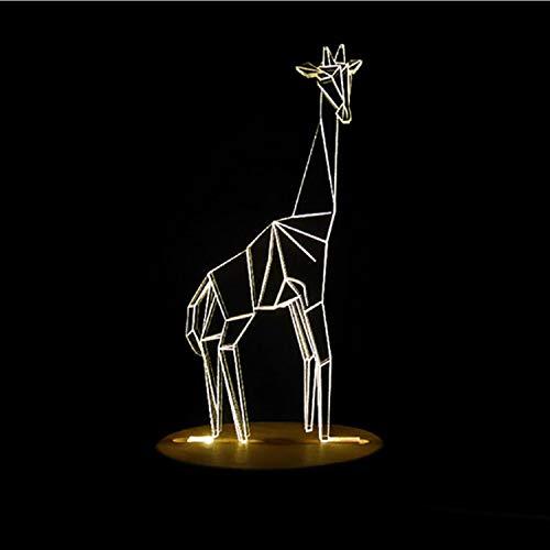 Lámparas De Ilusión Óptica Arte 3D Jirafa Escultura