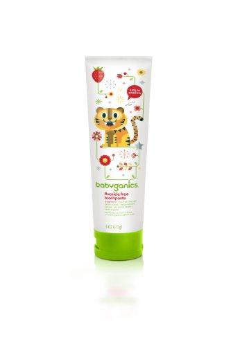 Babyganics Say Ahh! Flouride Free Toothpaste - 113g Strawberry (Baby, Kleinkind Zahnpasta, Erdbeere) aus USA