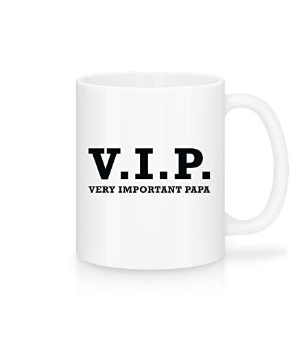 Shirtinator Papa Tasse mit Spruch, VIP Very Important Papa, Geburtstag Vatertag-sgeschenk Geschenkideen für (Stief-) Vater Kaffee-Tassen Weihnachten