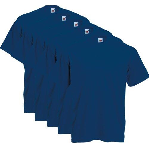 Fruit of the Loom 5er Pack T-Shirts, navy, Größe L -