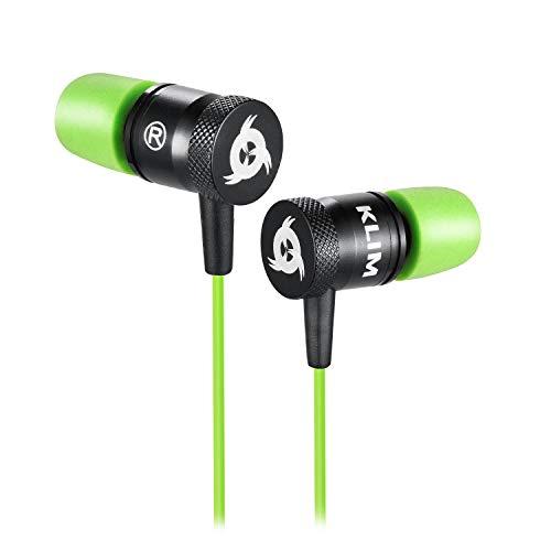 Klim fusion auricolari per audio di alta qualità – lunga durata + garanzia 5 anni cuffiette - innovativi: con cuscinetti in schiuma memory verde