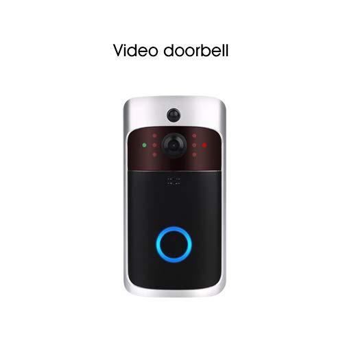 Visual Intercom (Smart WiFi Video Türklingel Kamera IP Türklingel Wireless Home Visual Intercom Chime Nachtsicht APP Control Überwachungskamera,a)